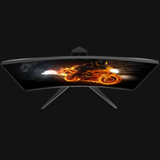 "AOC C24G1 24"" FullHD ívelt 144Hz Gamer LED Monitor 01"