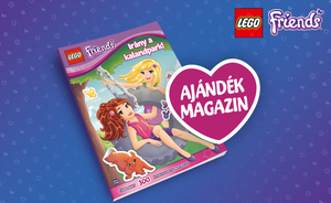 lego friends ajandék magazin promo