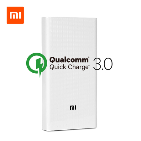 Xiaomi Mi Power Bank 2C 20000 mAh, 2xUSB, QuickCharge 3.0, fehér