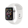 Apple Watch Series 4 GPS, 40mm, ezüst aluminium tok fehér sportszíjjal