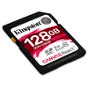 Kingston Secure Digital 128GB Cl10 UHS-I U3 V30 A1 (100/80) Canvas React memóriakártya (SDR/128GB)