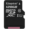 Kingston Secure Digital Micro 128GB Cl10 (45/10) memóriakártya (SDC10G2/128GB) + SD adapter