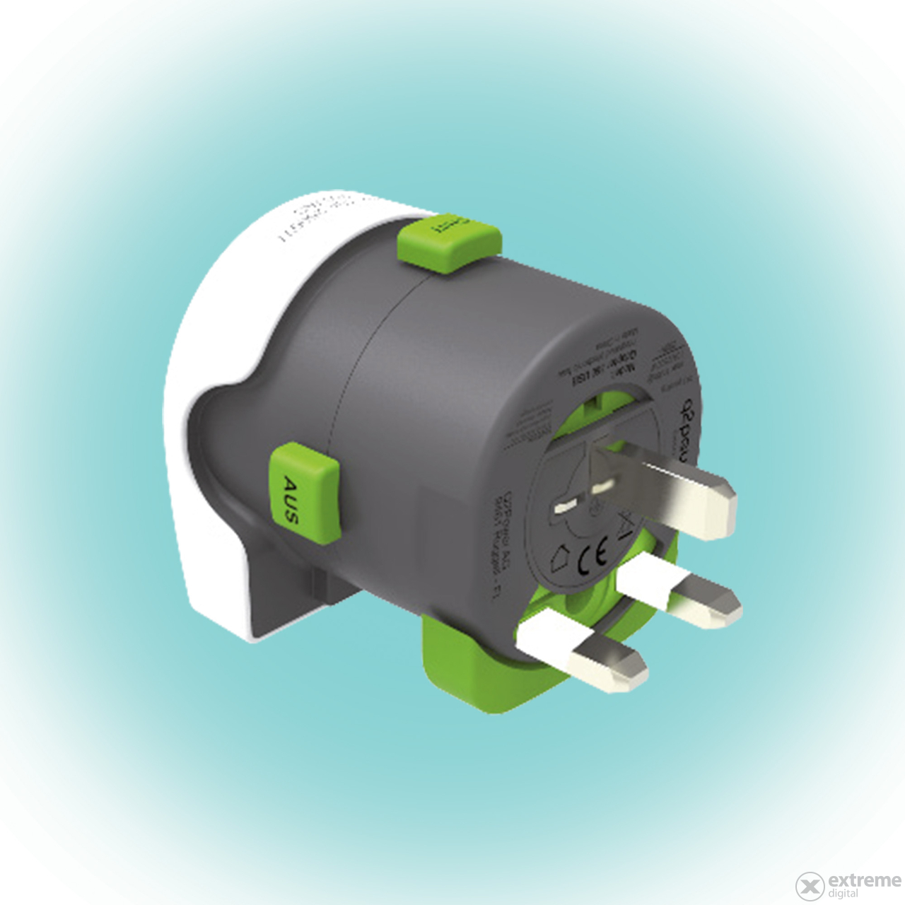 "Q2 Power ""Qdapter 360"" utazóadapter"