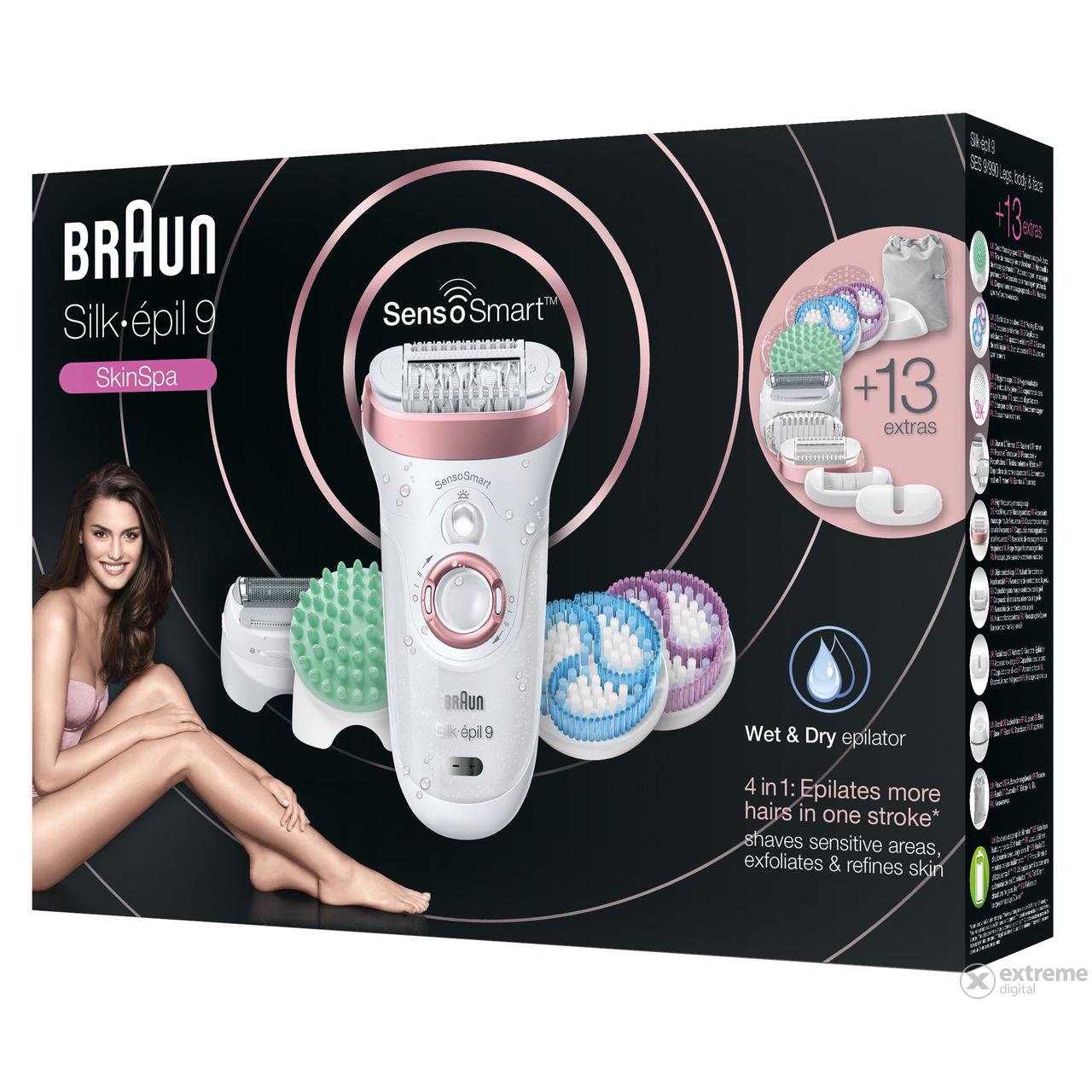 Braun SES 9 990 Silk-épil 9 SensoSmart okos epilátor  7e9b8901b9