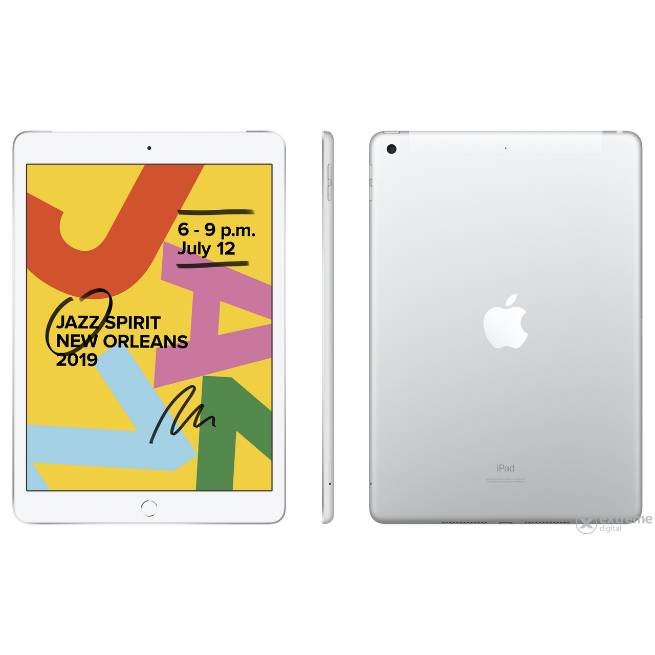 "Apple iPad 7 (2019) 10.2"" Wi-Fi + Cellular 128GB, silver (mw6f2hc/a)"