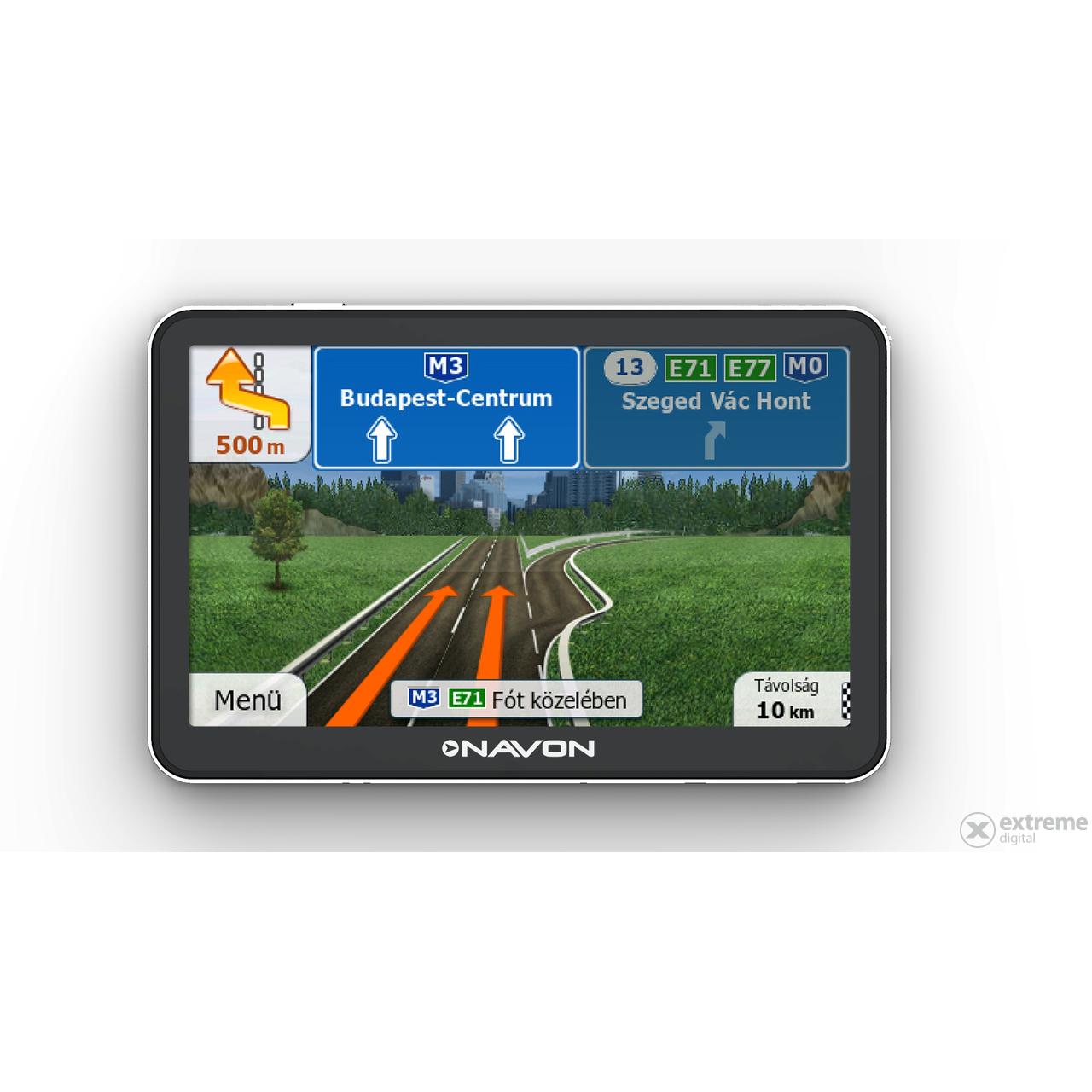 európa térkép gps re Navon N670 Plus navigáció + iGO Primo Teljes Európa térkép (45  európa térkép gps re