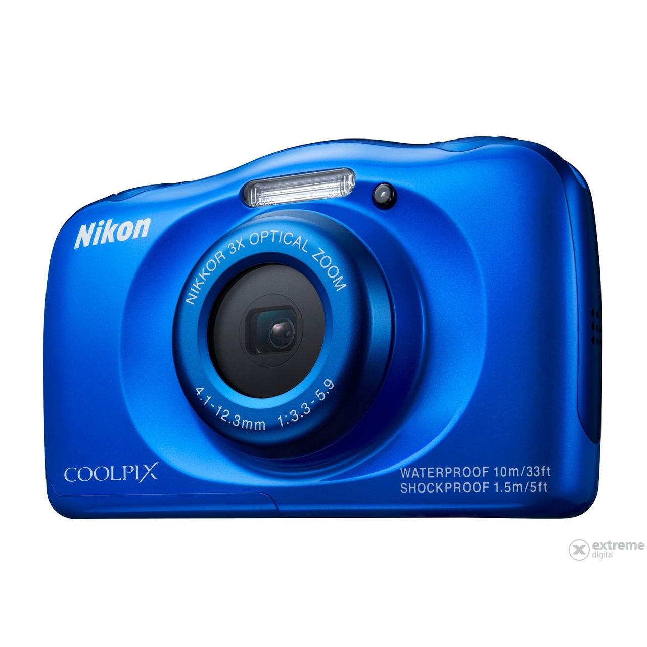 a2019c8eed38 Nikon Coolpix S33 fényképezőgép + hátizsák, kék | Extreme Digital