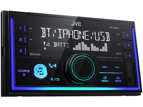 JVC KW-X830BT 2 DIN Bluetooth Media-Receiver mit Bluetooth-Freisprechfunktion und Audiostreaming, schwarz