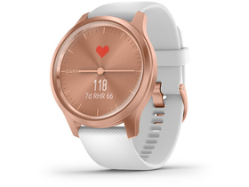 Smartwatch Garmin vivomove Style, rose gold/alb