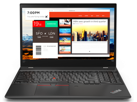 Notebook Lenovo ThinkPad T580 20L9003PHV, negru + Windows 10 Pro (tastatura layout HU)