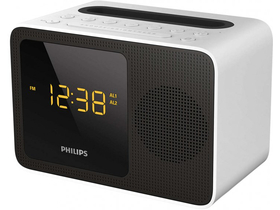 Philips AJT5300W/12 Bluetooth radio, črno-bel