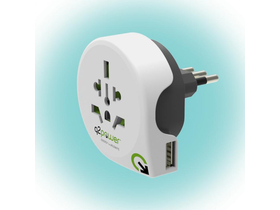 "Q2 Power ""World to Italy USB"" utazóadapter"