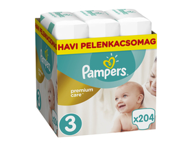 Pampers Premium Care plienky Monthly Box 3 midi, 204 ks