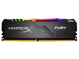 Kingston HyperX DDR4 8GB 3200MHz CL16 DIMM 1Rx8 Fury RGB memória modul