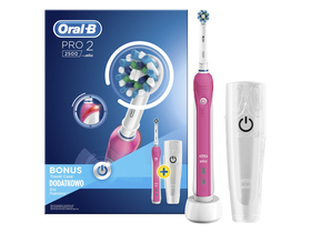 Oral-B PRO 2 2500 Ektromos fogkefe, pink, CrossAction fejjel