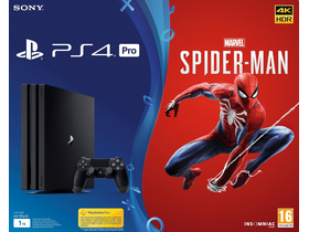 PlayStation® PS4 Pro 1TB igralna konzola + Spider-Man igralni softver