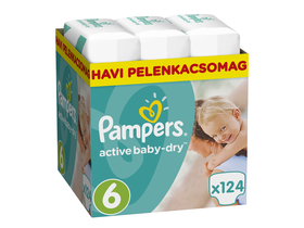 Scutece Pampers ActiveBaby Dry Maxi 6 XXL, 124 buc.