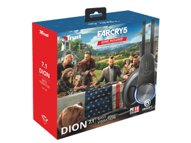 Trust GXT 383 Dion 7.1 слушалки с микрофон + Far Cry 5 PC Game Software
