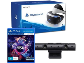 PlayStation PS4 VR (V2) + PS4 kamera (V2) + VR Worlds PS4