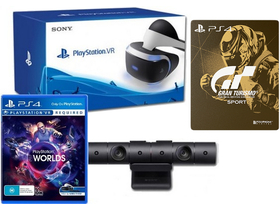 PlayStation PS4 VR + camera PS4  + joc VR Worlds PS4 + joc Gran Turismo Sport Steelbook Edition PS4