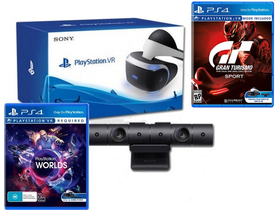 PlayStation VR  cu camera VR V2, joc Gran Turismo Sport si VR Worlds (PS4)