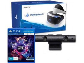 Sony PlayStation VR + camera PS4 + joc PS4 VR Worlds