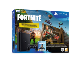 PlayStation® PS4 Slim 500GB konzola + Fortnite hra + Fortnite obsah