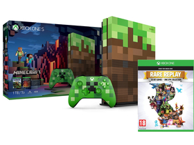 Microsoft Xbox One S 1TB + Minecraft Limited Edition + Rare Replay token