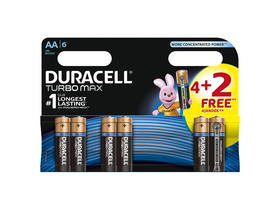 Duracell Turbo MAX AA Batterien 4+2er Pack