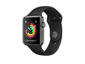 Apple Watch Series 3 GPS, 38mm, toc aluminiu space gray, curea sport negru
