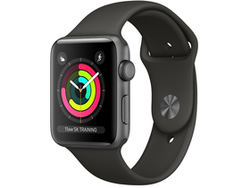 Apple Watch Series 3 GPS, 42mm,Space Grey Aluminium Case withGrey Sport Band (mr362mp/a)