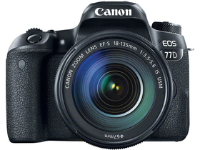 Canon EOS 77D fotoaparat kit (18-135 IS USM objektívvel)