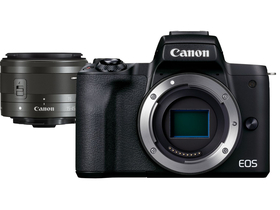 Canon EOS M50 Mark II MILC Kamera Kit ( mit 15-45mm IS STM Objektiv), schwarz