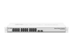 "MikroTik CSS326-24G-2S+RM 1U 19"" 24port GbE LAN 2x 10GbE SFP+ Cloud Smart Switch"
