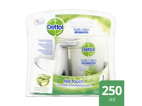 Dettol No-Touch козметичен пакет -автоматична машинка + течен сапун