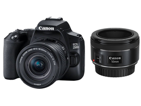 Canon EOS 250D комплект фотоапарат (с EF 18-55mm IS STM + 50mm STM обектив), черен