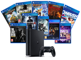 PlayStation® PS4 Slim 1TB HITS Extra Bundle konzola