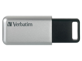 "USB memoriija, 64GB, USB 3.0, 100/35MB/sec, PC & MAC, VERBATIM ""SECURE DATA PRO"", siva"