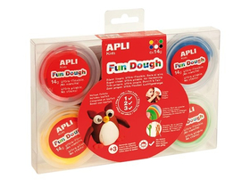 "Plastilina Apli ""Fun Dough""  display, culori de baza"
