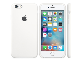 Toc silicon Apple iPhone 6s, alb (mky12zm/a)