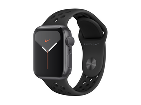 Apple Watch Nike Series 5 GPS, 40mm, astrosiv ovitek iz aluminija, z antracit/črnim Nike sportnim pasom