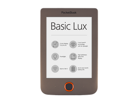 PocketBook Basic Lux 615 eBook  тъмно кафяв
