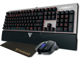 Tastatura mechanica gamer Gamdias HERMES E1+ mouse (tastatura layout HU)