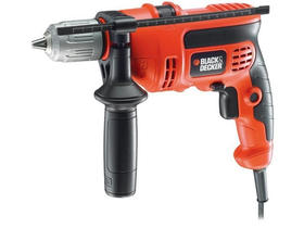 Ударна бормашина Black & Decker CD714CRESKD в куфар  + Black & Decker BDS200   + 5 свредла