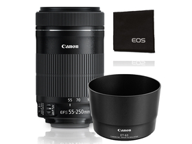 Canon 55-250/F4-5.6 EF-S IS STM objektiv + starter kit