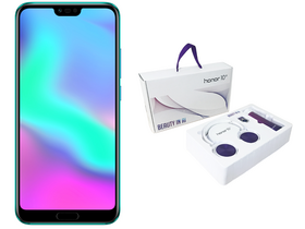 Telefon Honor 10 4GB/128GB Dual SIM, Green (Android) + giftbox (casca, sticla de apa, ring stand)