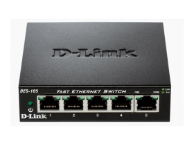 D-Link 5-port. DES-105/E 10/100  stolný switch