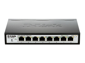 D-Link 8-Port 10/100/1000 Mbps Gigabit Smart Switch (DGS-1100-08)