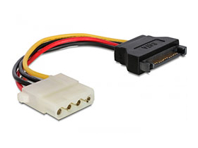 Transformator DeLock Adapter SATA 15pini male -> 4pini Molex female, 12cm