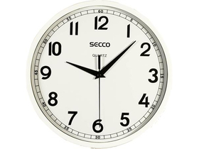 "Secco ""Sweep Second"" Wanduhr 24 cm, weiß"